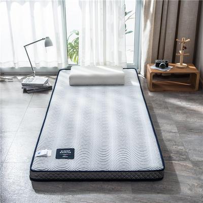 2020新款泰国天然300克浮雕针织棉乳胶功能床垫 90*200cm 卷素(厚度7cm记忆棉)