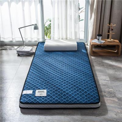 2020新款泰国天然300克浮雕针织棉乳胶功能床垫 90*200cm 玛雅—宝蓝(厚度7cm记忆棉)