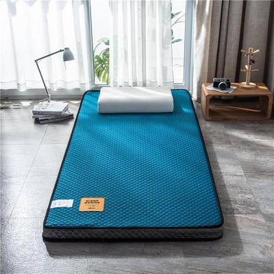 2020新款泰国天然300克浮雕针织棉乳胶功能床垫 90*200cm 玛雅—靛青(厚度7cm记忆棉)