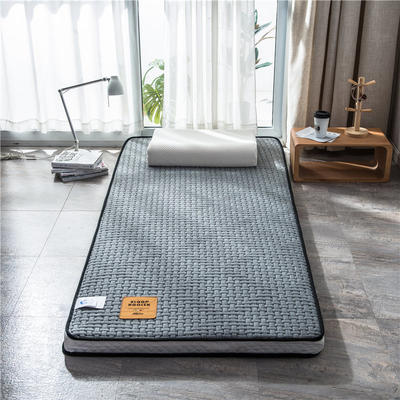 2020新款泰国天然300克浮雕针织棉乳胶功能床垫 90*200cm 玛雅—浅灰(厚度7cm记忆棉)