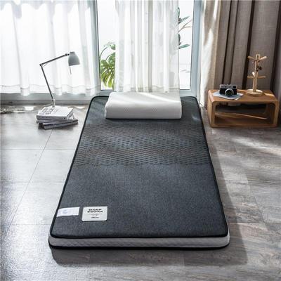 2020新款泰国天然300克浮雕针织棉乳胶功能床垫 90*200cm 玛雅—深灰(厚度7cm记忆棉)