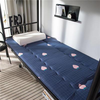2020新款竹炭纤维90克磨毛卡通印花床垫 小 90*200cm 粉蜜桃