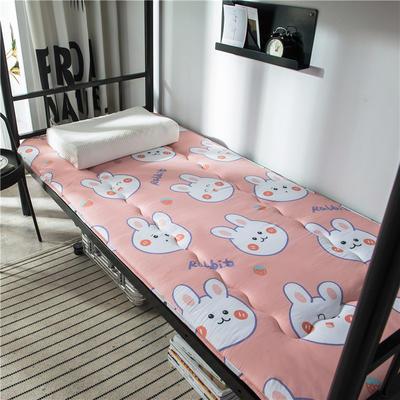 2020新款竹炭纤维90克磨毛卡通印花床垫 小 90*200cm 可妮兔—粉