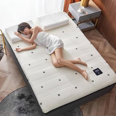 2020新款针织绣花纱布乳胶功能床垫 90*200cm 乳胶K04-1(厚度6cm)
