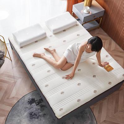 2020新款针织绣花纱布乳胶功能床垫 90*200cm 乳胶K04-4(厚度9cm)