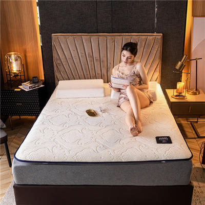 2020新款提花绒纳米发热床垫 90*190cm 米白