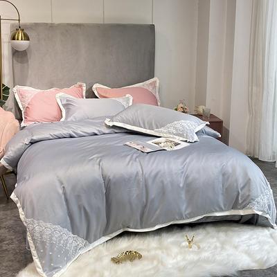 2020新款雙面水洗真絲潘多拉系列四件套 1.5m床單款 炫彩銀
