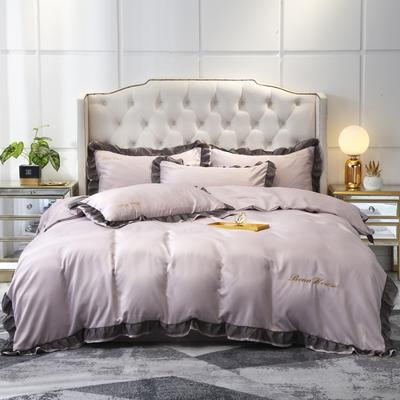2020新款水洗真絲戴芙妮系列四件套—棚拍圖 1.5m床單款四件套 裸紫