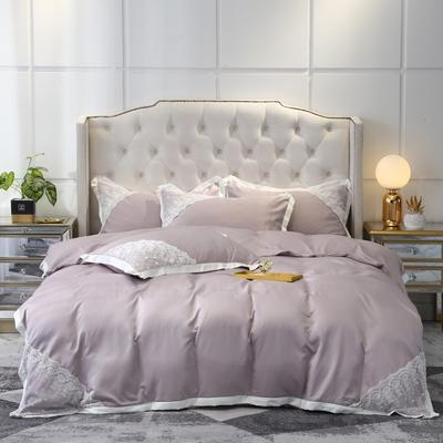 2020新款雙面水洗真絲潘多拉系列四件套—棚拍圖 1.5m床單款四件套 裸紫