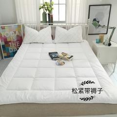 源素家居    床褥床垫   松紧带褥子(薄款) 1.2*2.0 白
