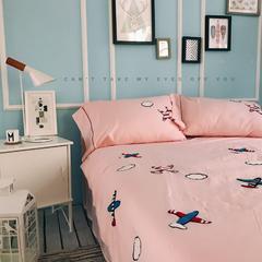 正宗水洗莫代尔毛巾绣飞机夏被  标准尺寸和小号 150x200cm 粉色