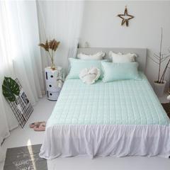 美人鱼天丝提花+进口刺绣花边夏被  可配同款床裙和枕套 200X230cm 床裙绿色2.0*2.2