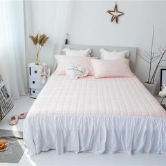 美人鱼天丝提花+进口刺绣花边夏被  可配同款床裙和枕套 200X230cm 床裙粉色1.5*2.0