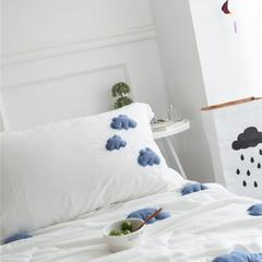 正宗水洗莫代尔立体云朵夏被  标准和小号  可配枕套 200X230cm 白色枕套一对