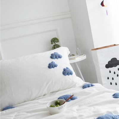 正宗水洗莫代尔立体云朵夏被  标准和小号  可配枕套 150x200cm 白色枕套一对