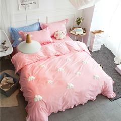特价款13372全棉立体云朵四件套    小号标准加大 小号1.2m床 粉色