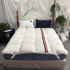 织带休闲羽绒床垫 150×200 白色