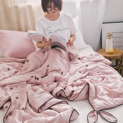 2019新款天丝刺绣夏被( 心晴) 150x200cm 粉