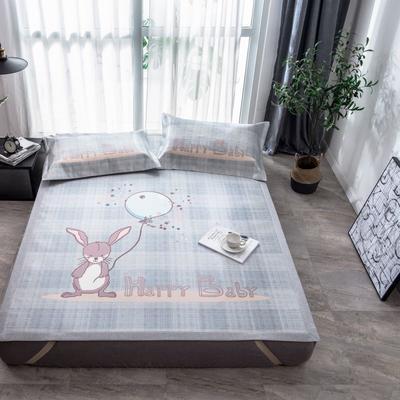 201新款-本草汉方养生席(印花款) 150*195cm 欢乐兔