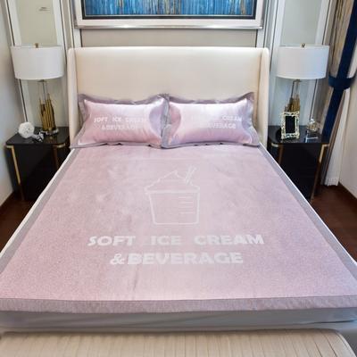 201新款-本草汉方养生席(平铺款) 150*195cm 冰淇淋 粉