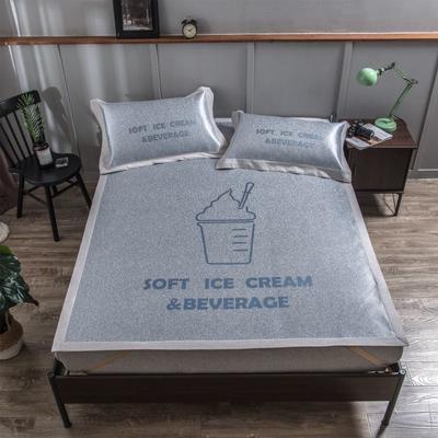 201新款-本草汉方养生席(平铺款) 150*195cm 冰淇淋 蓝