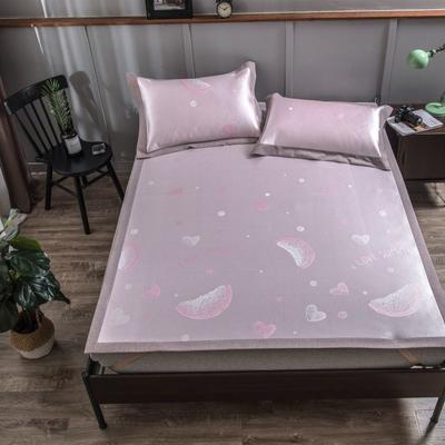 201新款-本草汉方养生席(平铺款) 150*195cm 粉红西瓜