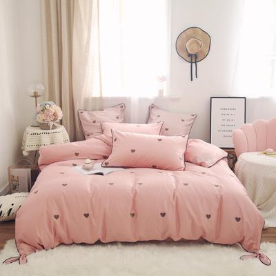 2019新款-60s长绒棉四件套 床单款1.8m(6英尺)床 粉