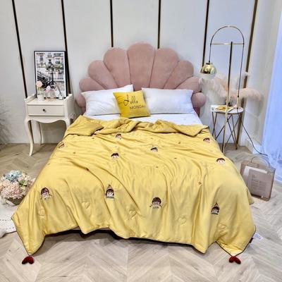 2020新款-天丝夏被小甜心 150x200cm 黄