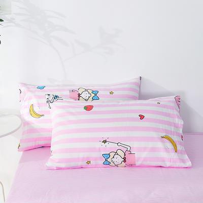 2020年新款全棉枕套一对装 48cmX74cm/对 可爱女孩