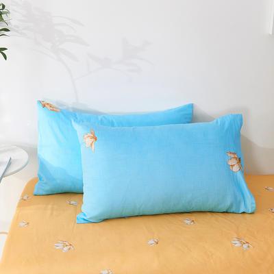 2020年新款全棉枕套一对装 48cmX74cm/对 鸟语花香