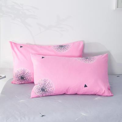 2020年新款全棉枕套一对装 48cmX74cm/对 蒲公英