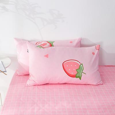 2020年新款全棉枕套一对装 48cmX74cm/对 甜心草莓