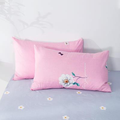 2020年新款全棉枕套一对装 48cmX74cm/对 幸福花