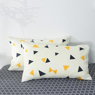 2020年新款全棉枕套一对装 48cmX74cm/对 炫彩三角