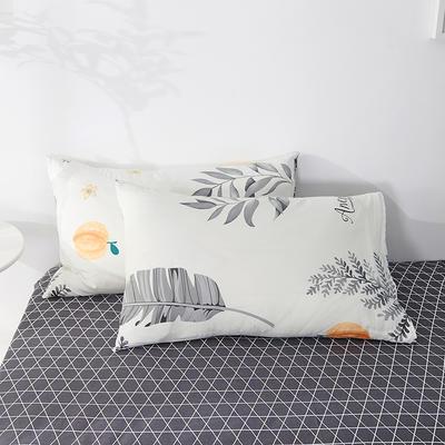 2020年新款全棉枕套一对装 48cmX74cm/对 叶语清风