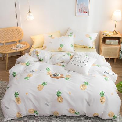 2020年新款全棉多规格套件 1.2m床单款小号三件套 菠萝