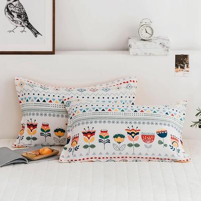2020新款13070全棉单枕套 48cmX74cm/对 波西米亚