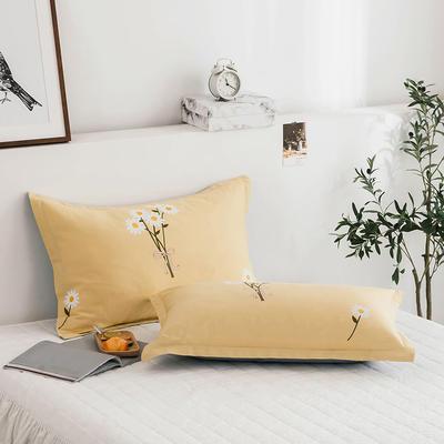 2020新款13070全棉单枕套 48cmX74cm/对 花语黄