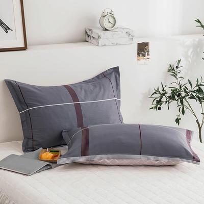 2020新款13070全棉单枕套 48cmX74cm/对 以陌