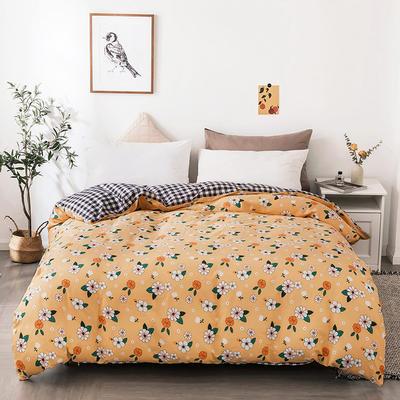 2020新款13070全棉单被套 150x200cm 阳光小菊-黄