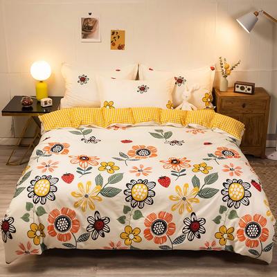2020新款13070全棉四件套实拍图 1.2m床单款三件套 佳丽斯