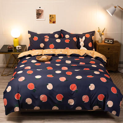 2020新款13070全棉四件套实拍图 1.2m床单款三件套 水果家族