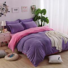兰紫橙双拼系列 1.0m(3.3英尺)床 浅紫+粉红