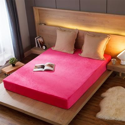 水晶绒床笠(一圈橡皮筋) 120cmx200cm 6.桃红