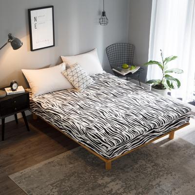 2018新款法莱绒单品床笠 120*200+25cm 斑马纹