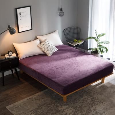 2018新款法莱绒单品床笠 120*200+25cm 茄紫