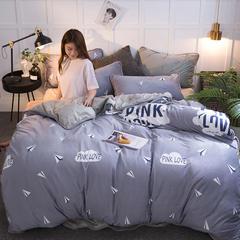 2018新款水晶绒印花四件套 1.5m(5英尺)床 野兽派