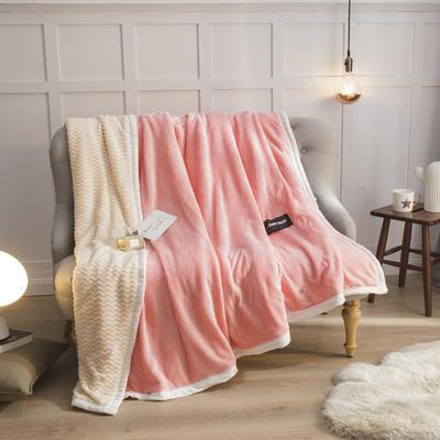 2019新贝贝绒大包边单品被套、复合毯二合一 150*200cm 玉色-白