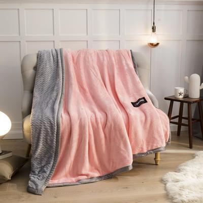 2019新贝贝绒大包边单品被套、复合毯二合一 150*200cm 玉色-灰