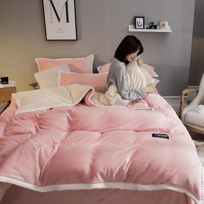 2019新款贝贝绒大包边工艺四件套 1.2m床单款三件套 玉色-白